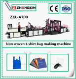 O Non-Woven de pé recicl o saco do t-shirt que faz a máquina (ZXL-A700)