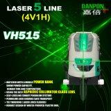 nivel multilínea de Auto-Nivelación recargable Vh515 del laser del verde 4V1h1d