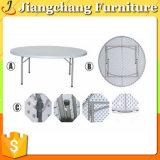 Tableau de banquet en plastique utilisé blanc pliable Jc-PT1604