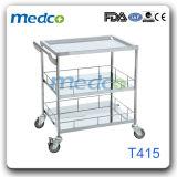 Carretilla médica del instrumento quirúrgico del hospital del carro del acero inoxidable para el paciente