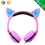 Écouteur stéréo breveté de vente chaud d'oreille de chat du produit 2016 pour des gosses