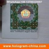 Holograma estampado contra la Falsificación de Seguridad caliente etiqueta engomada
