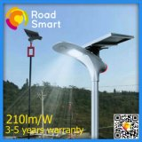 Lámpara de calle al aire libre solar de la energía LED de IP65 210lm/W
