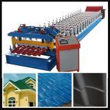 Rolo hidráulico automático da telha de telhado que dá forma à máquina