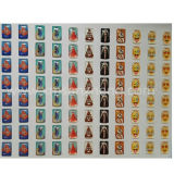 Autoadesivi liberi di Emoji della cupola della resina dell'unità di elaborazione del quadrato