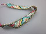 Acessório de forma do bracelete do grânulo de vidro das mulheres, bracelete da forma das senhoras