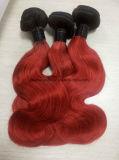 Onda brasileña de los tonos 1b/Red de Ombre dos del pelo humano