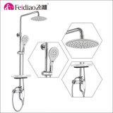 Laiton chaud &#160 de qualité de prix bas de vente ; Robinet de mélangeur de douche de pluie avec l'étagère