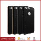 Cassa Bumper del telefono mobile del coperchio posteriore della fibra del carbonio di caso per Huawei