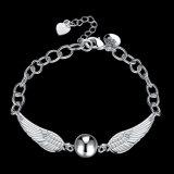 Geplateerde Armband 925 van de Vrouwen van het Ontwerp van de manier Zilver Echte Zilveren Juwelen