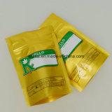Sachet en plastique comique d'impression d'or comique faite sur commande de poche avec la tirette