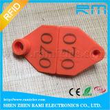 Tag de orelha animais de 13.56MHz RFID para o protocolo da sustentação ISO15693 da vaca feito pelo material do plutônio