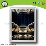 急なアルミニウムフレームの極度の細いライトボックス