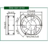 Luft-Fluss-Kühlventilator Wechselstrom-110V axialer grosser