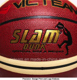 Изготовленный на заказ неподдельный шарик баскетбола PU кожаный в большом части