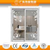 Aluminiumfabrik-hölzerne Aluminiumtür Guangdong-Weiye, Innentür schiebend