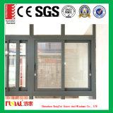 Подгонянное окно скольжения размера алюминиевое с Tempered стеклом