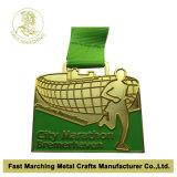 스포츠를 위한 주문 고품질 포상 방아끈 금속 메달