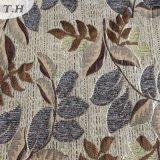 Ткань жаккарда синеля картины листьев в специальной низкопробной земле