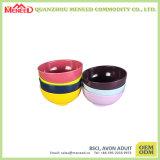 Bacia de sopa redonda colorida do uso da cantina