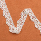 Дешевый связанный шнурок высокого качества шнурка цветка парчи