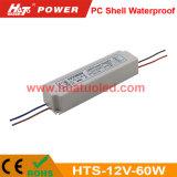 fuente de alimentación impermeable del voltaje 12V-60W del shell constante LED de la PC