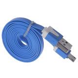 De kleurrijke Vlakke Kabel van de Lader USB van Micro- Sync van Gegevens voor Samsung