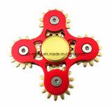 5 juguetes anodizados aluminio del hilandero de la mano del color