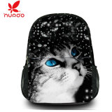 Mochila bonito da escola do gato da trouxa do saco de ombro do Satchel do curso da lona da forma