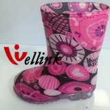Type neuf Rainboots en caoutchouc femelle de mode chaude