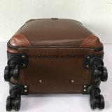 Qualität PU-Leder-Arbeitsweg-Gepäck-Kasten, kundenspezifischer Laufkatze-Beutel mit zwei rotierenden Rädern