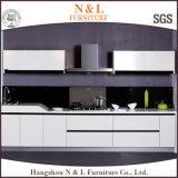 Meubles en bois chauds de cuisine de modèle moderne de vente dans la couleur grise