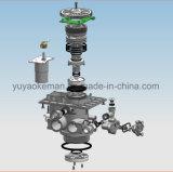 2 toneladas válvulas automáticas de válvula de control de flujo del hogar abajo/del suavizador de agua con el LCD