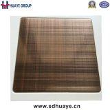 Kupferne Beschichtung-Edelstahl-Messingplatten für Innendekoration