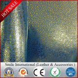 Cuir artificiel pour le cuir d'unité centrale gravé en relief par cuir synthétique des chaussures TPU