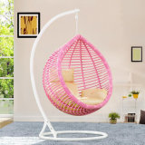 Oscilación al aire libre de la fábrica, muebles de la rota, silla colgante del huevo de interior (D017A)