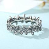 꽃 화이트 골드 반지를 가진 여자를 위한 도금된 반지 보석