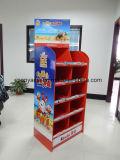 Kundenspezifische 5 Reihe-Pappladeplatten-Bildschirmanzeige für freundlichere, Wellpappen-Fußboden-Ausstellungsstand