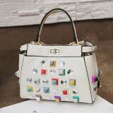 A cor nova do contraste da chegada enche o saco da senhora ombro da forma da bolsa com a pedra de cristal Sy8136 de Trasparent
