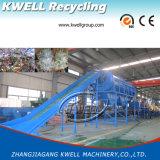 Macchina di riciclaggio di plastica dell'animale domestico delle bottiglie dello spreco/plastica residua che schiaccia riga di secchezza di lavaggio