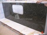 Bancadas da estratificação do granito do verde da tuba de Uba para a cozinha e o banheiro