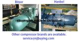 40HP ao tipo de refrigeração água refrigerador do parafuso 200HP com compressor de Bizter