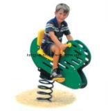 Cheval d'oscillation extérieur de ressort de cour de jeu pour l'amusement