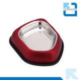 Tazón de fuente colorido al por mayor del animal doméstico del tazón de fuente de la comida para gatos del perro del acero inoxidable de la alta calidad
