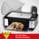 alta Qualtiy RC talla del papel A4 de la foto del satén de 240GSM para el papel de la foto de la tinta del pigmento
