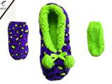 4つのカラー珊瑚のビロードの屋内靴(RY-SL1640)