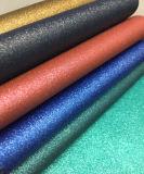 Couro sintético artificial para sapatas, vestuário do Glitter bonito, decoração, mobília (HS-Y50)