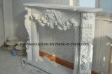 주식 (SY- MFP-12301)에 있는 백색 꽃 주위 대리석 벽난로 벽로선반