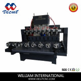Multi máquina giratória lisa do Woodworking do router do CNC das cabeças (VCT-2515 FR-8H)
