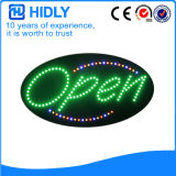 Oval de Hidly o sinal aberto do diodo emissor de luz de Ásia